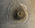 Olympus Mons on Martian surface